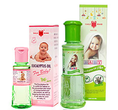 Eagle Brand eucalyptus baby oil
