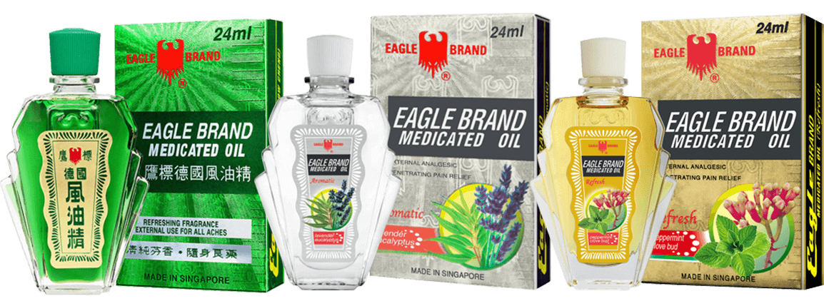 Eagle Brand Medicated oil range