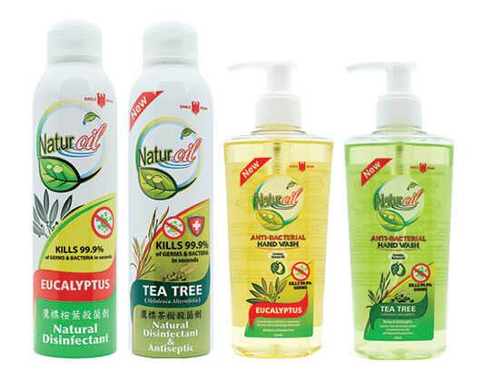 Eagle Brand Naturoil disinfectant and handwash