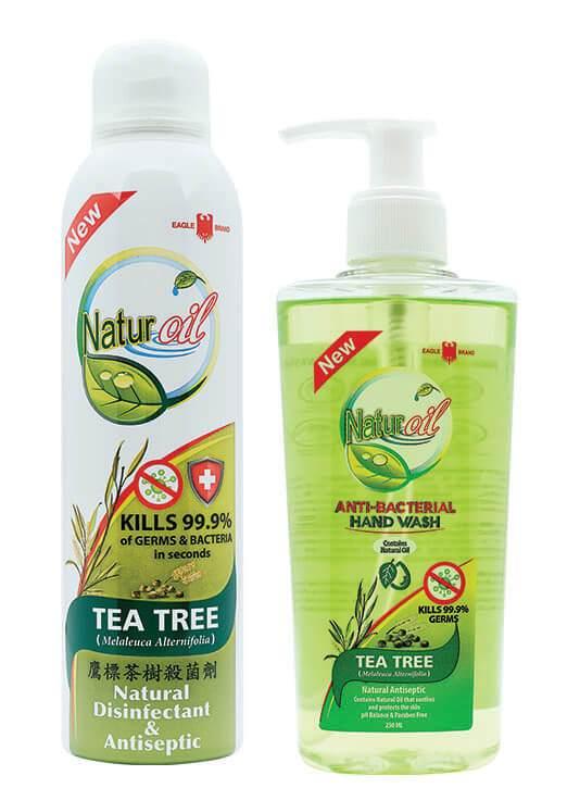 Eagle Brand Naturoil Tea tree disinfectant spray and handwash